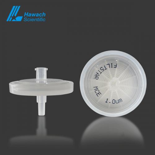 1.0 micron MCE syringe filters